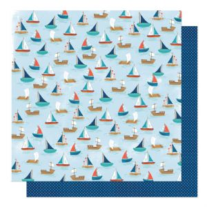 American Crafts - Never Grow Up -  Sail Away 12 x 12 Paper